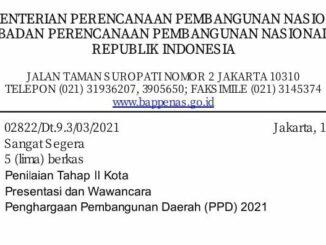 Jadi Perwakilan Sulsel, Bappeda Parepare Masuk 17 Besar Ajang Penilaian Bappeda Seluruh Indonesia Kategori Kota