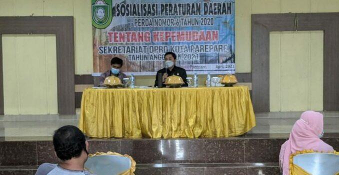 Sosialisasikan Perda Kepemudaan, Kamaluddin Kadir Harap Pemuda Berkontribusi Dalam Pembangunan