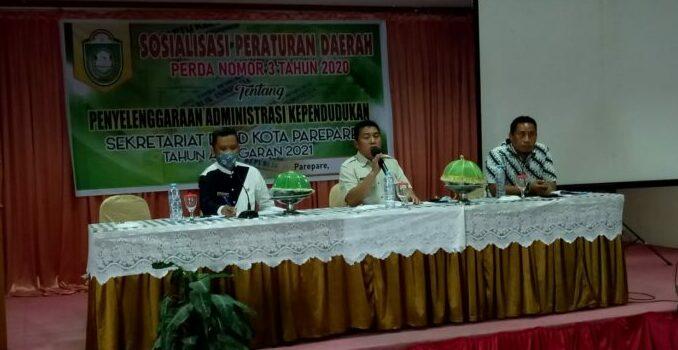 Libatkan Disdukcapil, Ketua Komisi I DPRD Parepare Sosialisasikan Perda Administrasi Kependudukan