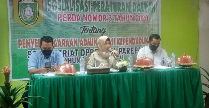 Sosialisasikan Perda Nomor 3 Tahun 2020, Legislator NasDem Parepare Imbau Warga Lengkapi Dokumen Kependudukan