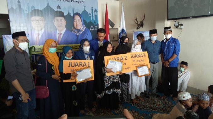 Festival Ramadan PAN Parepare Selesai, Musdalifah Pawe : Untuk Juara Asah Terus Kemampuan