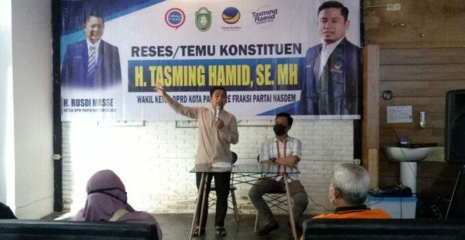 Wakil Ketua DPRD Parepare Tasming Hamid : Aspirasi Warga Selalu Menjadi Prioritas