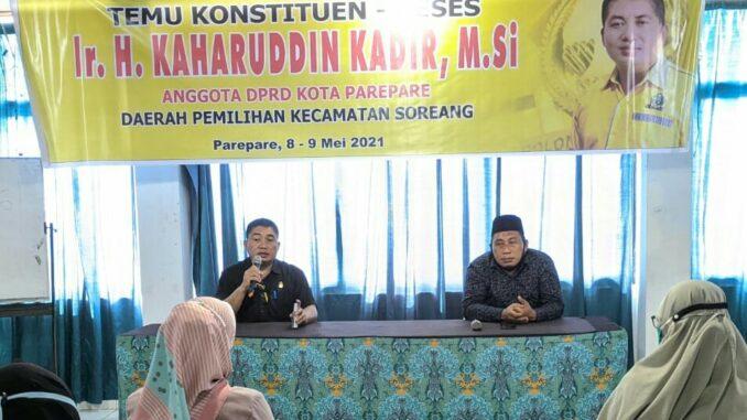 Sembari Serap Aspirasi, Ketua Komisi I DPRD Parepare Ajak Warga Tetap Patuhi Protokol Kesehatan
